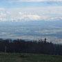 auch gegen Süden, Richtung Alpen sieht es noch gut aus
