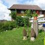 Die einzigen Pilze am Jurahöhenweg beim Restaurant Aux vieux Grenier in Plagne