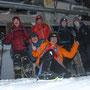Gruppenfoto der Schneeschuhwanderer