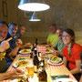 Gemütliches Festessen im Hofbergli ...