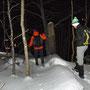 kleine Schneeverwehungen auf dem Grat