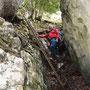 Auf der Leiter zum Ankehubel Aufstieg