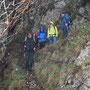 Abstieg auf dem Küeferwägli mit durchgehenden Fixketten