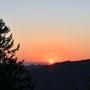 Sonnenuntergang weit hinter Moutier