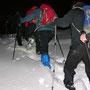 Ab 800m wird die Schneehöhe anhänglich
