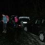 Das Parkieren auf seifiger Unterlage sorgt schon vor der Wanderung für eine filmreife Cabaretnummer