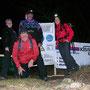 Gruppenfoto auf der abgesperrten Roggenfluh