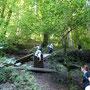 Weiter geht es die Treppe hoch um den Wasserfall zu umlaufen