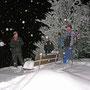 Wunderschöner Winterabend am Donnerstag 11. Dezember 2008 beim Bänkli auf den Chambenflühen