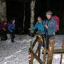Tenueerleichterung vor dem Einstieg in den hohen Schnee