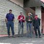 Gut erholt am Start auf dem Col du Mollendruz am Freitag Morgen zur Monsteretappe