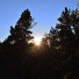 Sibylle fotografiert den Sonnenuntergang