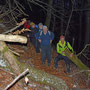 auf dem Giesserwägli sind einige Bäume zersägt