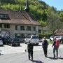 Einmarsch zum Mittagessen punkt 12.00 im Gourmettempel Chilchli in Bärenwil