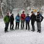 Anstelle der Wanderung vom 1. Januar steigen wir am 28. Dezember bei hohem Schnee zu Sibylle und Tom in die Skihütte auf der Stallfluh hoch