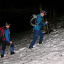 Ab ca 1000m sind wir im Schnee