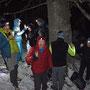 Neujahrs-Apéro am höchsten Punkt der Wanderung auf 1200m