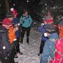 Die Roggenfluh im Schneetreiben ist immer ein Wanderhöhepunkt. So auch am 17. Januar 2013