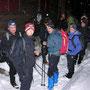 Traditionelles Apéro vor der Wannefluhhütte anlässlich der Weihnachtsessenwanderung vom 13. Dezember 2012