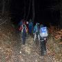 Zum Start ein Waldweg, dann gehts nur noch offroad