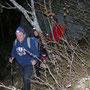 Ein paar Meter unterhalb des Lehnfluhgipfels