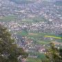 Blick hinunter nach Oberdorf, Langendorf und die Stadt