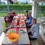 Aare Wanderung, Bootsfahrt und Grill-Plausch bei Marina und Dani in Wangen am Donnerstag, 26. Juni 2014