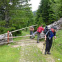 Eine der etwa zehn verschiedenen Weidgatterarten auf dem Jura Höhenweg