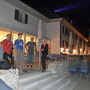 Nächtliches Kurhaus Weissenstein mit neuen blauen LED Schweinwerfern