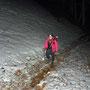 das letzte Schneefeld im Berg