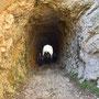 Austritt aus dem kleinen Tunnel