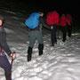 Ab dem Nesselboden liegt noch 30cm Schnee