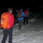 Marsch über die Alpweide kurz vor dem Oberdörferberg