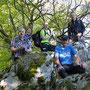 Gruppenfoto auf dem Grat über dem Isebähnli in Trimbach