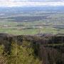 Blick von der Bettlerküche ins grüne Tal nach Attiswil