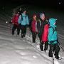 Start zur Rückwanderung, kurz vor Mitternacht!  unterhalb des Stierenbergs