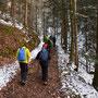 Wanderweg noch ohne Schnee