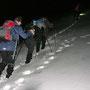 In der Region Stierenberg dürfen wir so richtig im Schnee stapfen ...