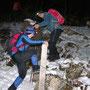 in Kampfwandermanier werden im Aufstieg nur wenige Wanderwege benutzt
