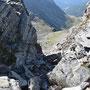 Couloir beim Abstieg vom Pass