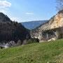 Blick zurück in die Klus von Gänsbrunnen
