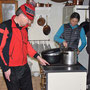 Das Küchentem beim Zubereiten einer leckeren Gemüsesuppe