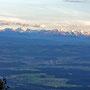 Aussergewöhnlich  klare Alpensicht vom Hellchöpfli am Donnerstag 26. August 2010