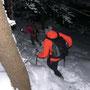 Auf der Nordseite des Rüttelhorns liegen doch noch einige Zentimeter Schnee