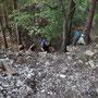 Das Kletterquartett hat die Felsen bewältigt