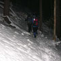 Wandern im Winterwald