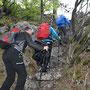 wir wandern schneller, um vor dem Regen die Grathöhe zu erreichen