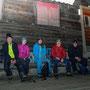 Gruppenfoto vor der Wannefluhhütte