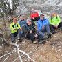 Gruppenfoto der Kraxler