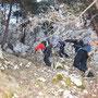 Ja keine Steine lostreten bei dieser Gruppengrösse und Geländesteilheit!
